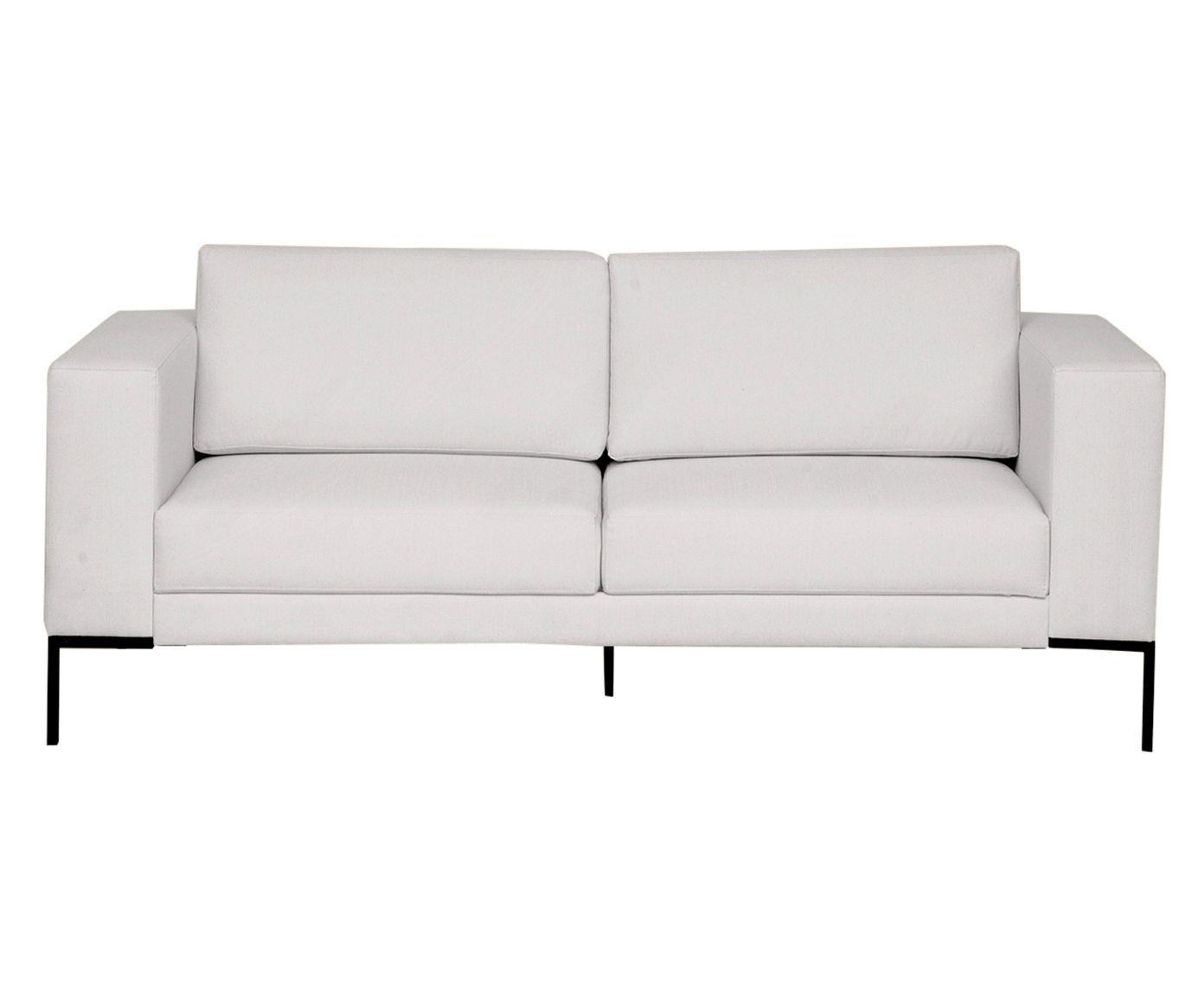 Sofá em Linho Otto Cotton Cru - 180X83X85cm   Westwing.com.br