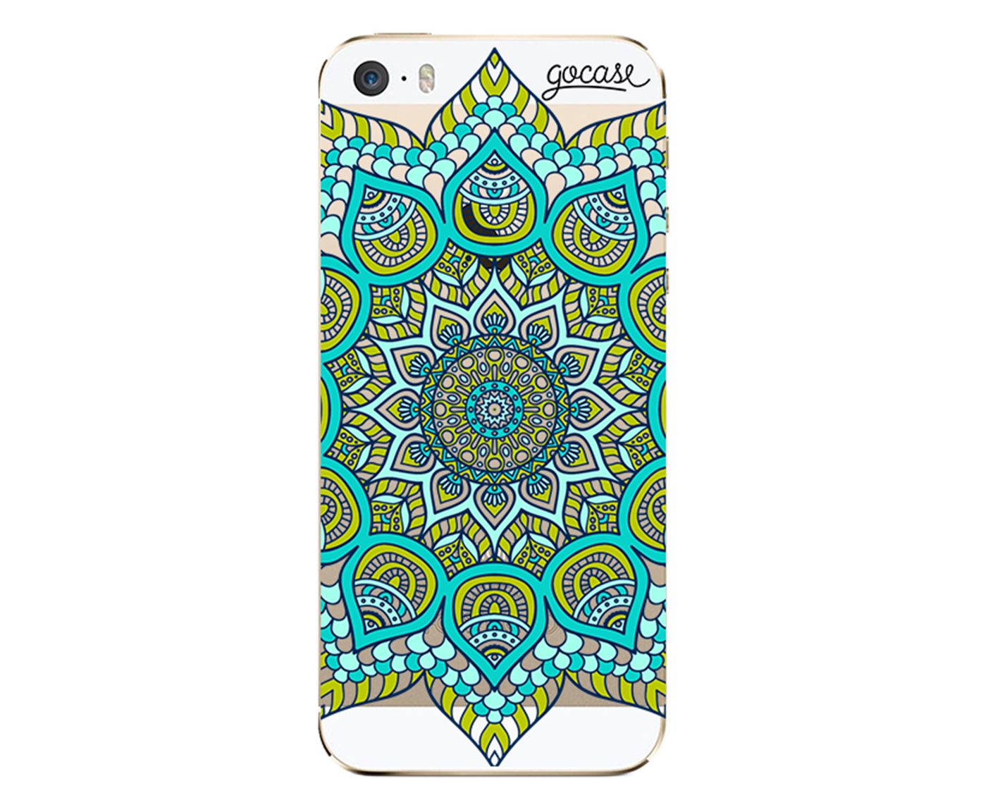 Case Green Mandala - Para iPhone 5C | Westwing.com.br