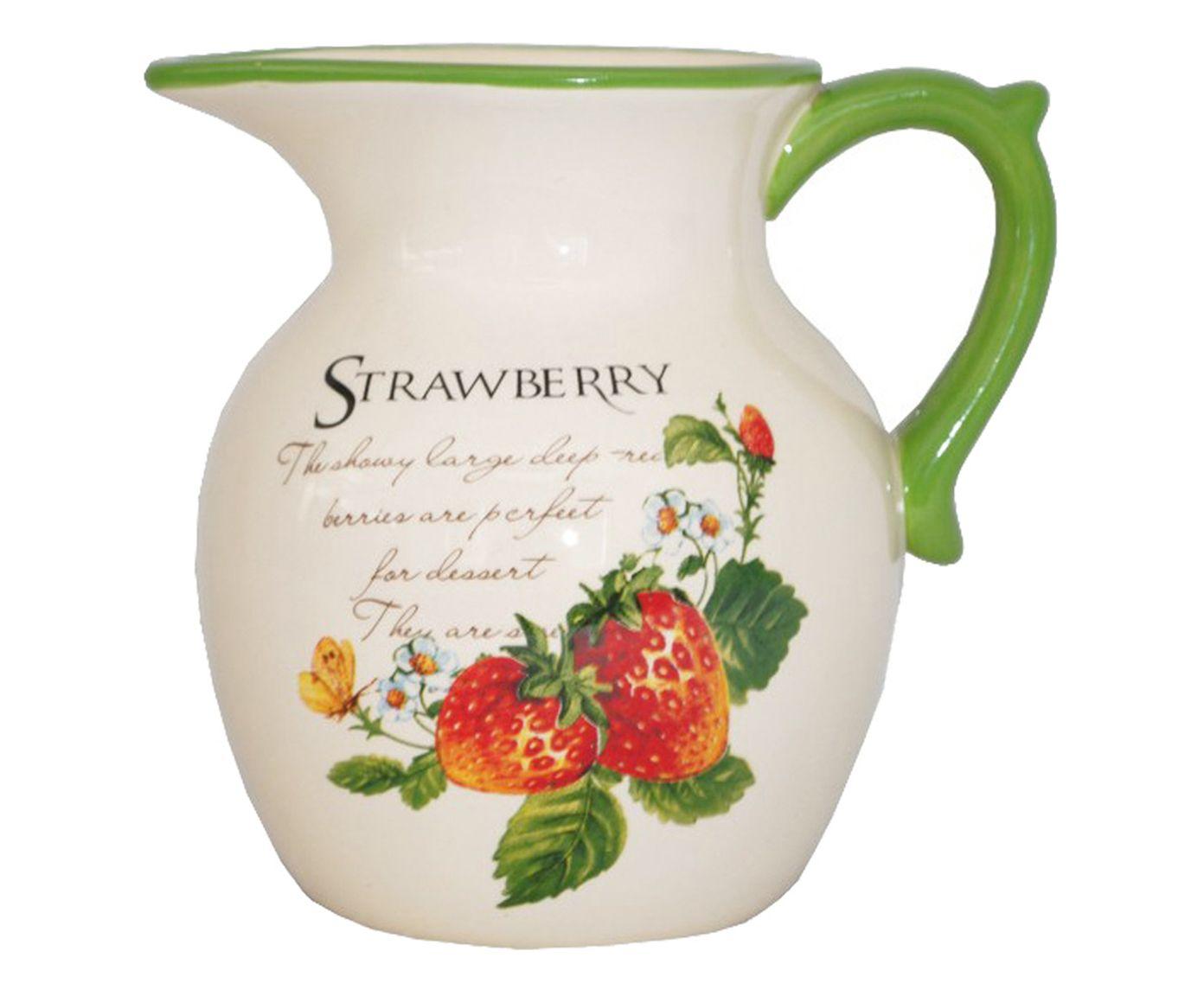 Jarra Strawberry Verde - 1L | Westwing.com.br