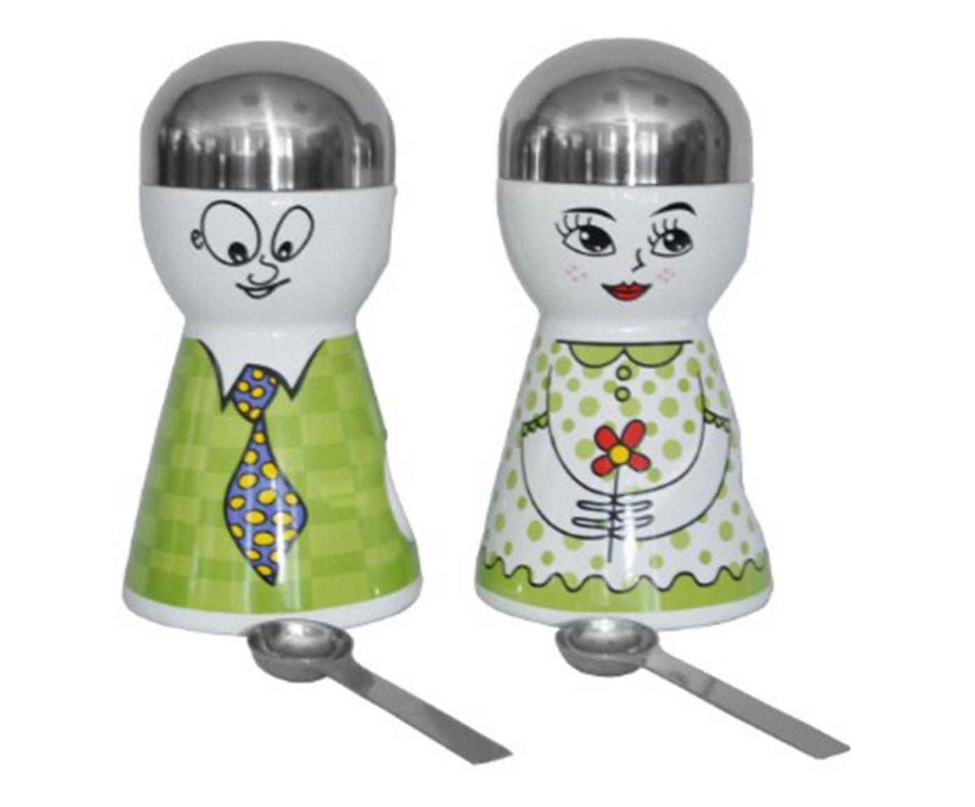 Jogo de Potes com Colheres Doll Verde - 20cm | Westwing.com.br