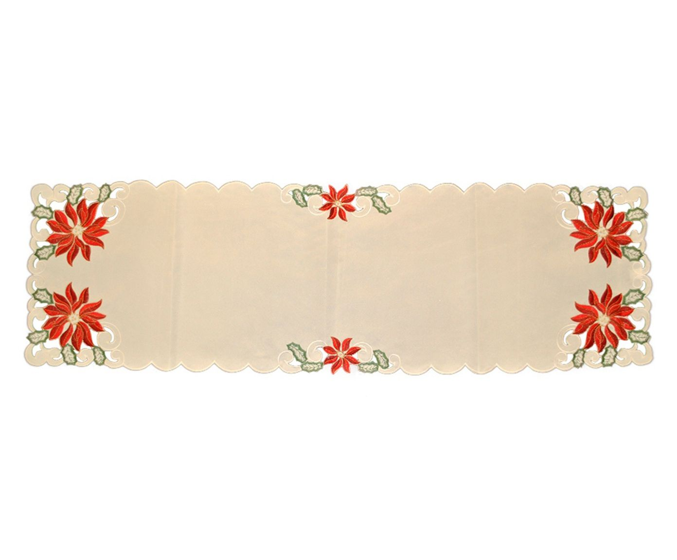 Caminho de Mesa Ivory Flowers - 40X130cm | Westwing.com.br