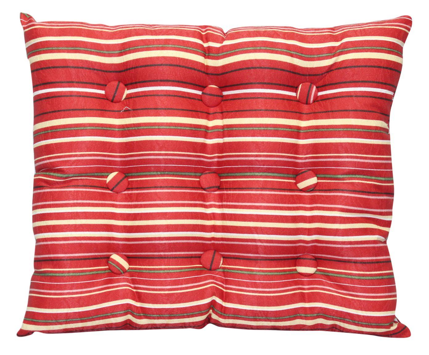 Almofada Zabuton Marble Striped Vermelha - 40x50cm | Westwing.com.br