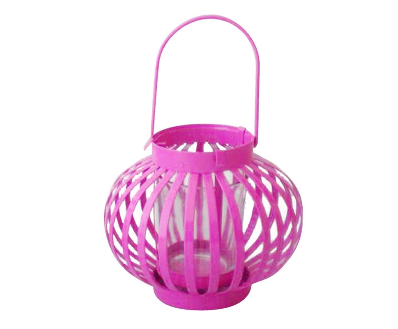 Lanterna Marroquina Mini Basket Round Pink - 62,5cm   Westwing.com.br