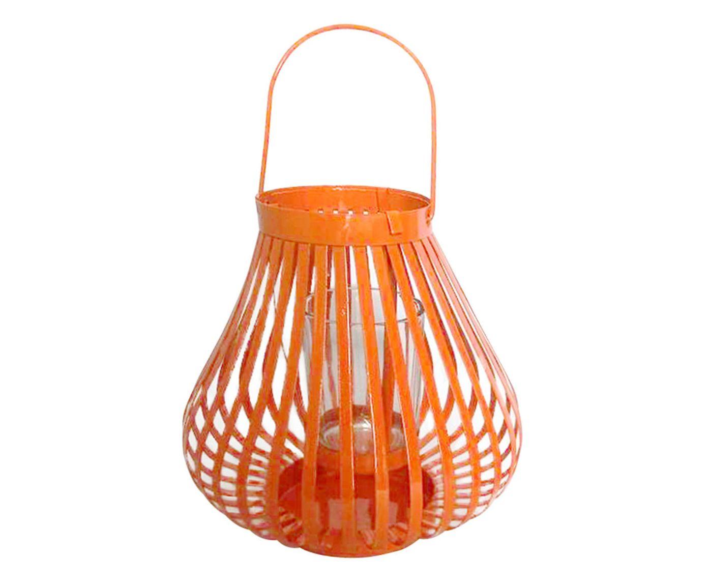 Lanterna Marroquina Basket Round Coral - 15cm | Westwing.com.br