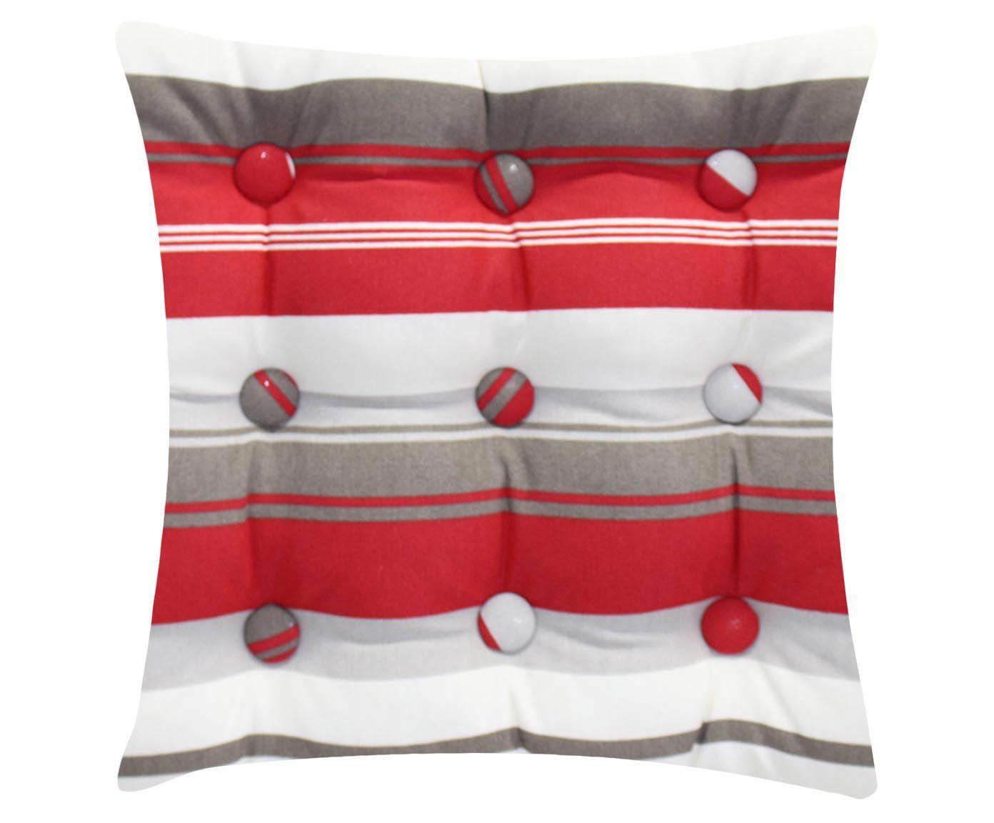 Almofada Zabuton Stripes Vermelha - 40x50cm | Westwing.com.br