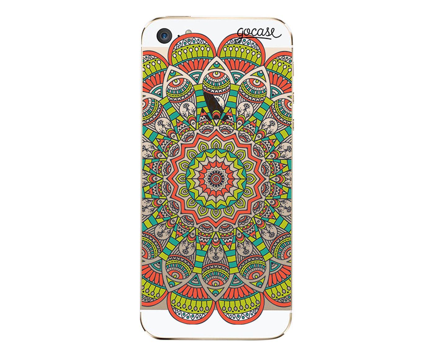 Case Orange Mandala - Para iPhone 5C | Westwing.com.br