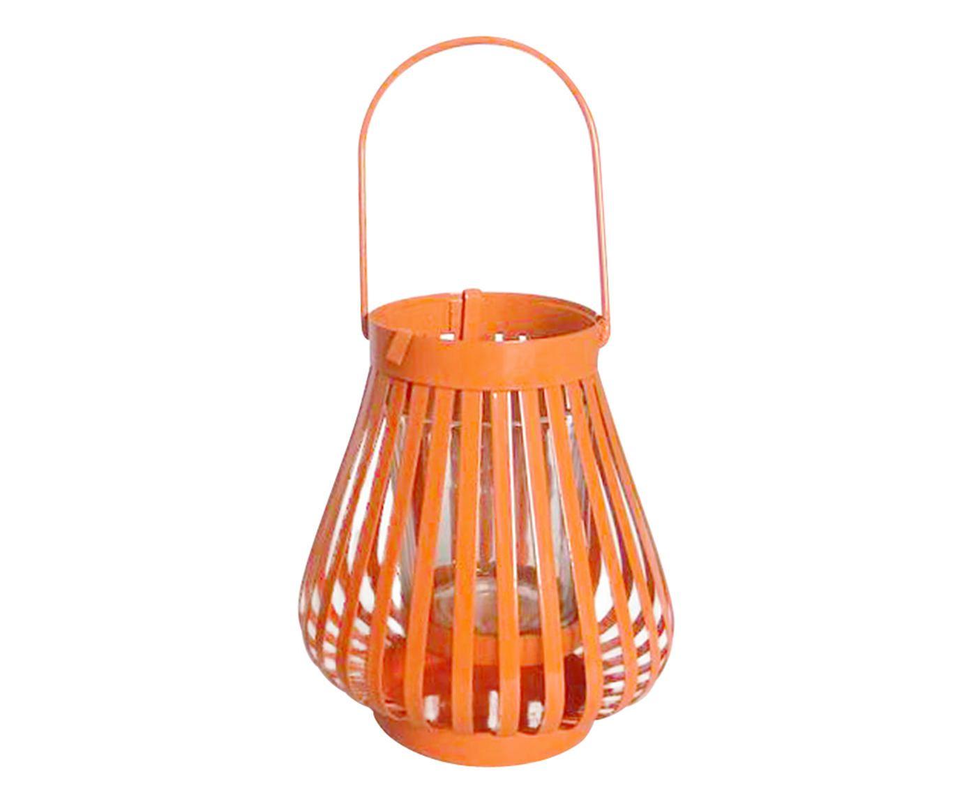 Lanterna Marroquina Basket Laranja - 11cm | Westwing.com.br