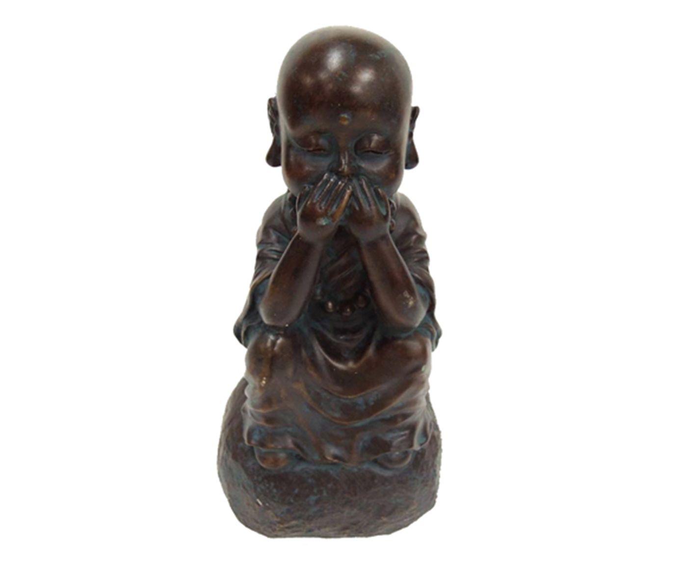 Estatueta Monge Mudo   Westwing.com.br