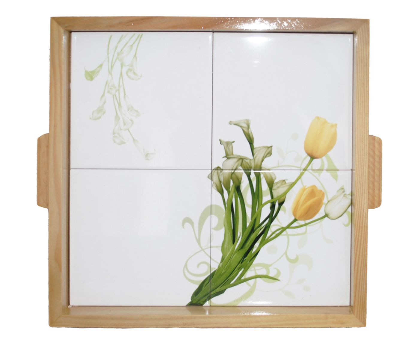 Bandeja Little Tulip - 36X36cm   Westwing.com.br