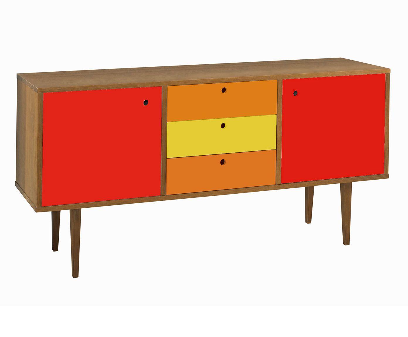 Buffet Vintage - Vermelho, Laranja e Amarelo | Westwing.com.br