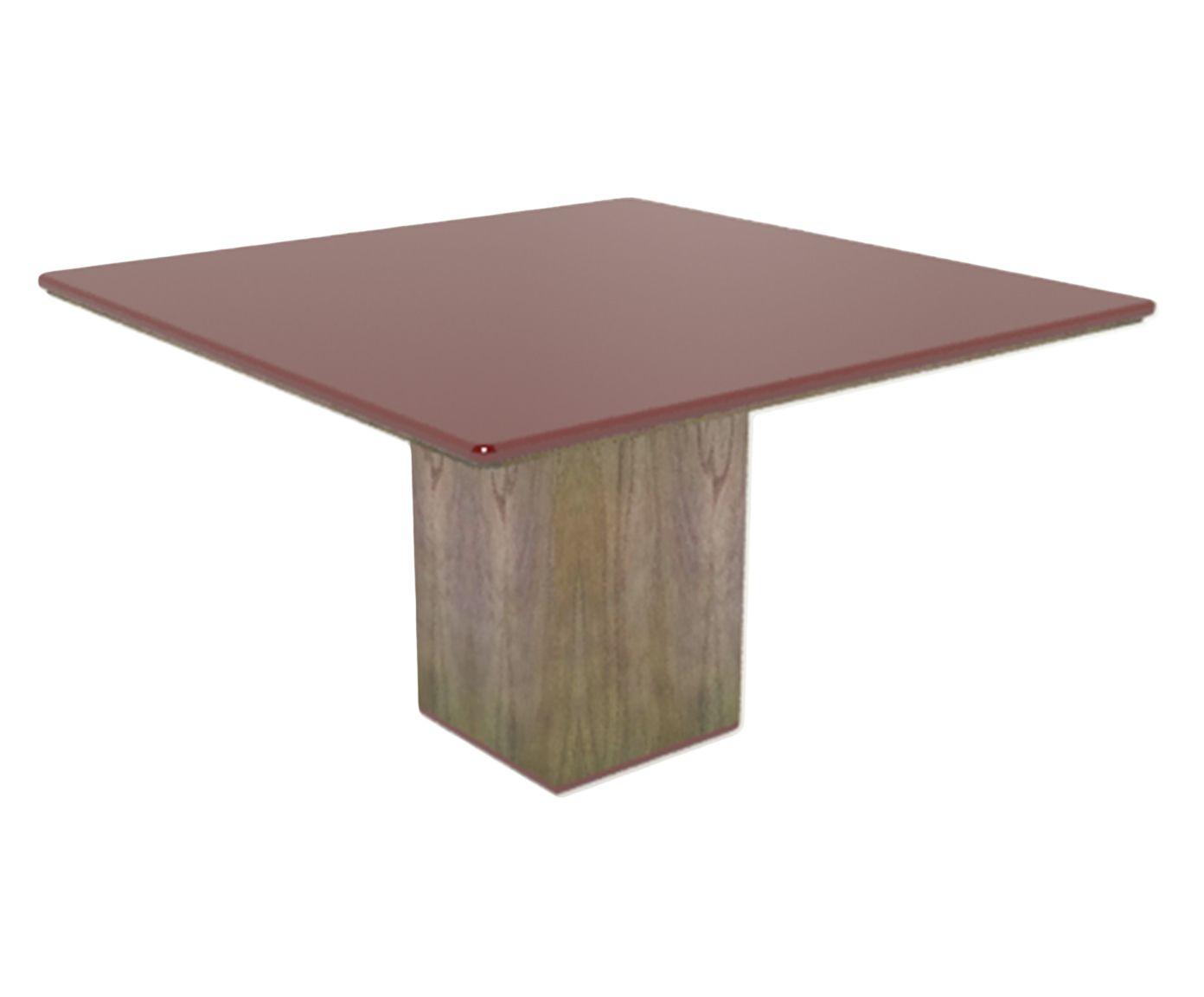 Mesa de Jantar Cananeia Carmim - 100x100cm | Westwing.com.br