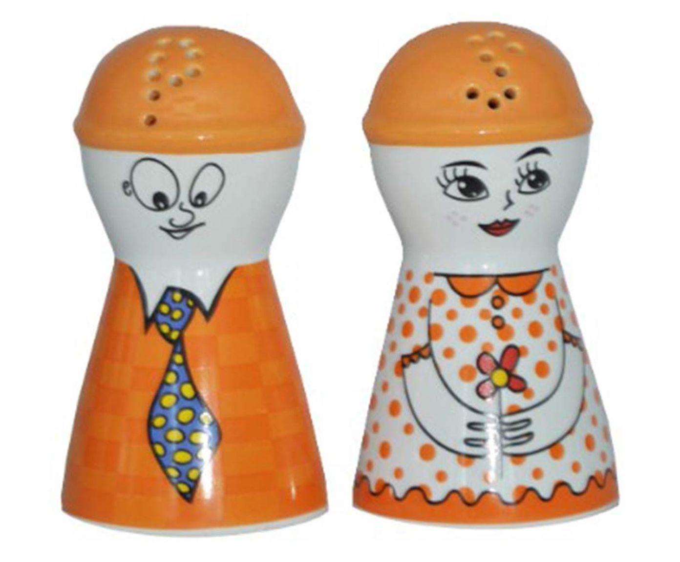 Jogo de Saleiro e Pimenteiro Doll - Laranja | Westwing.com.br