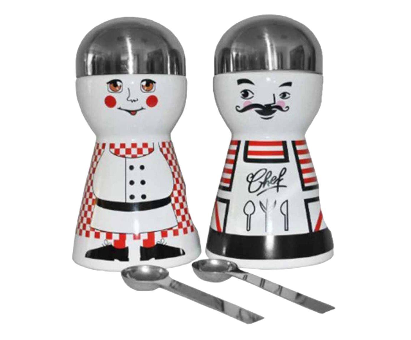 Jogo de Potes com Colheres Mustache - 20cm   Westwing.com.br