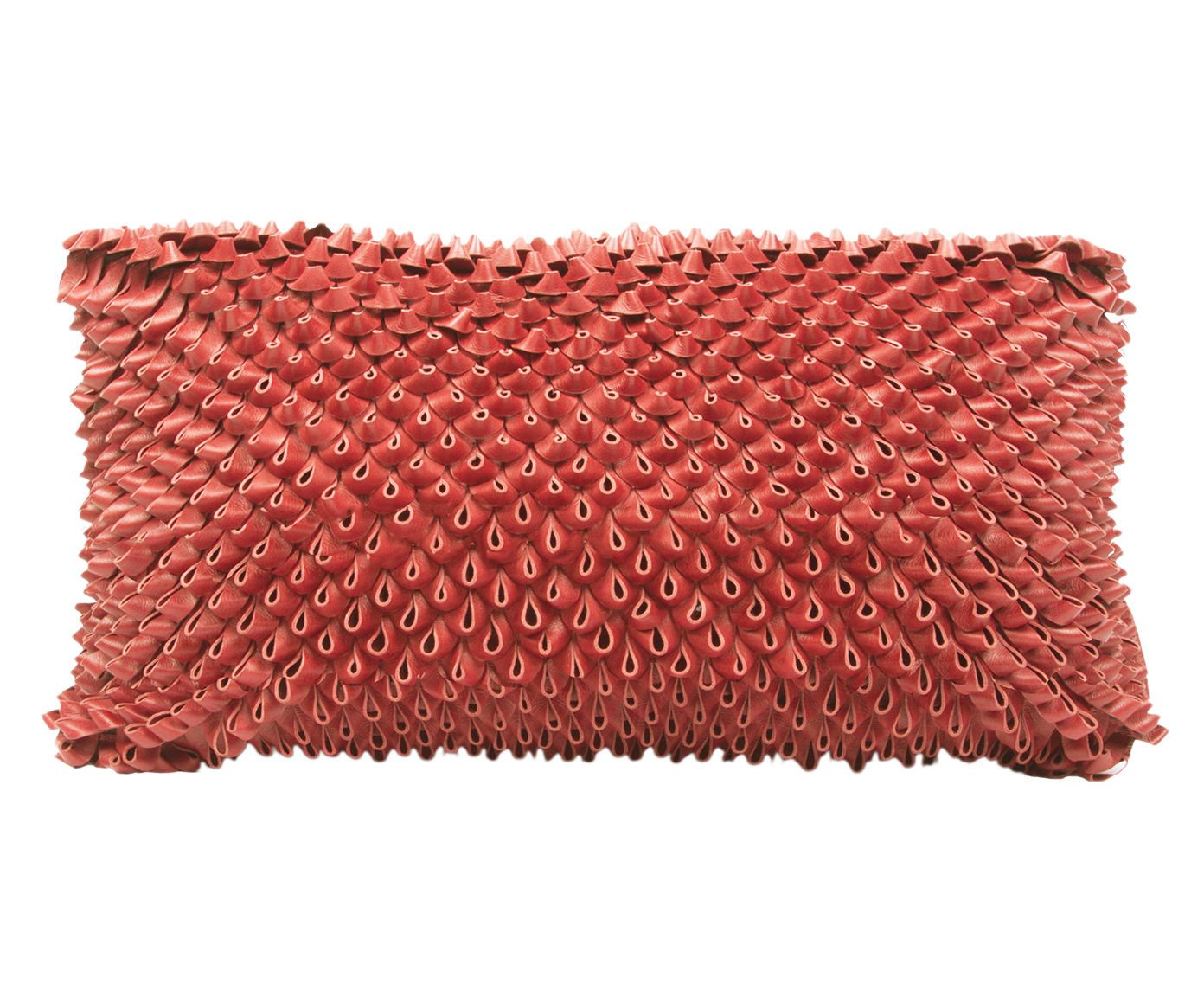 Capa de Almofada Tressê Ouriço Cereja - 25X50cm | Westwing.com.br