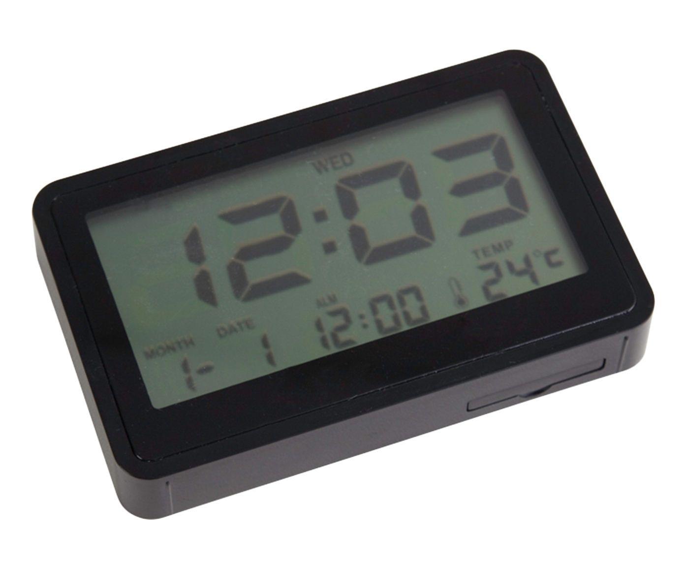 Relógio Despertador Flat Case - Preto | Westwing.com.br