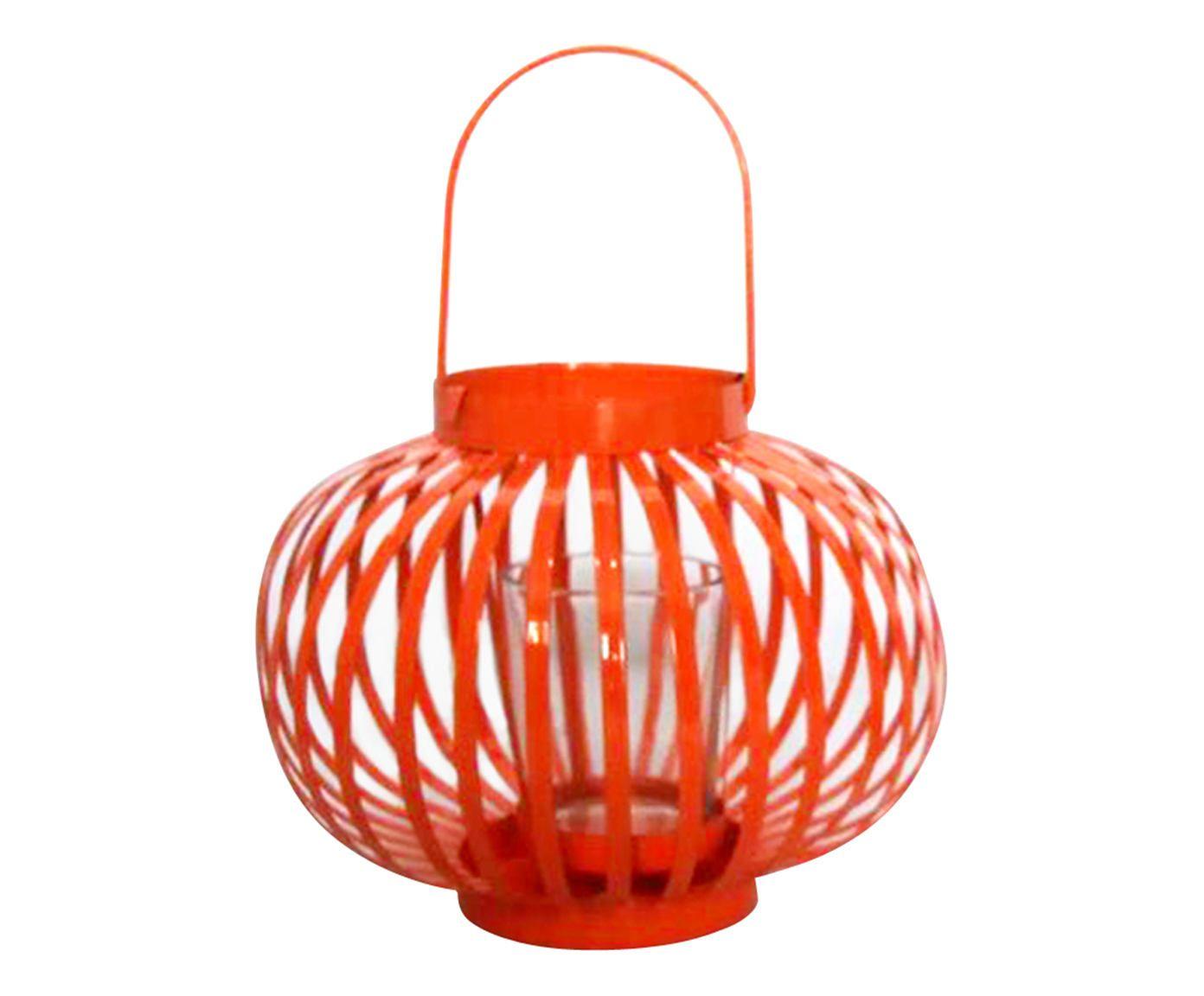 Lanterna Marroquina Basket Round Laranja - 11cm | Westwing.com.br