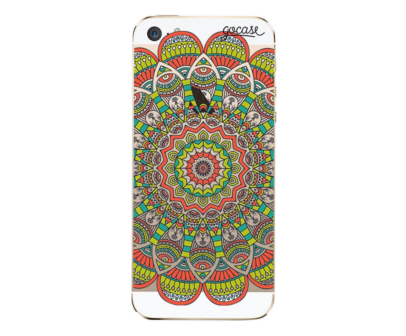 Case Orange Mandala - Para iPhone 5/5S | Westwing.com.br