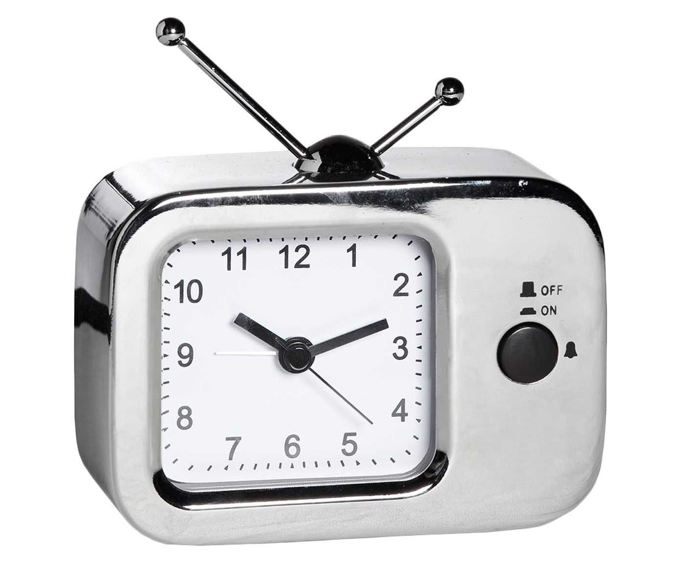 Relógio Despertador Tv - Cromado   Westwing.com.br