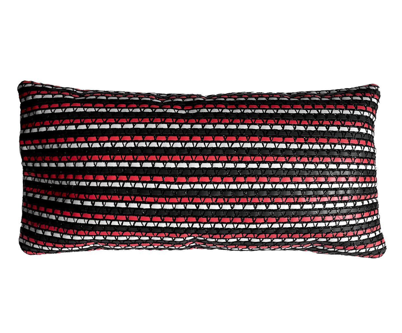 Capa de Almofada Tressê Rede Vermelha - 25X50cm   Westwing.com.br
