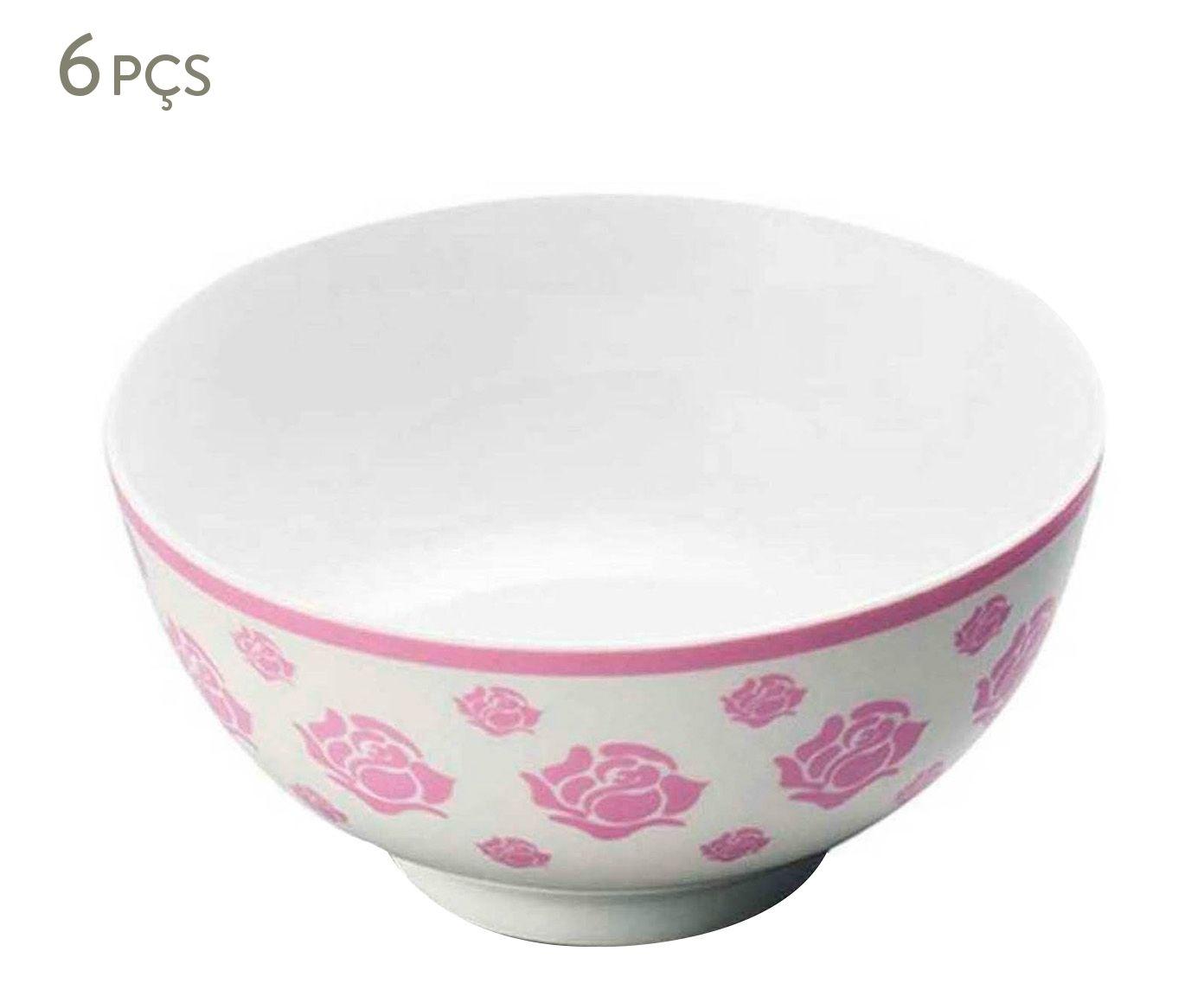 Jogo de Bowls Roses Rosa - 400ml | Westwing.com.br