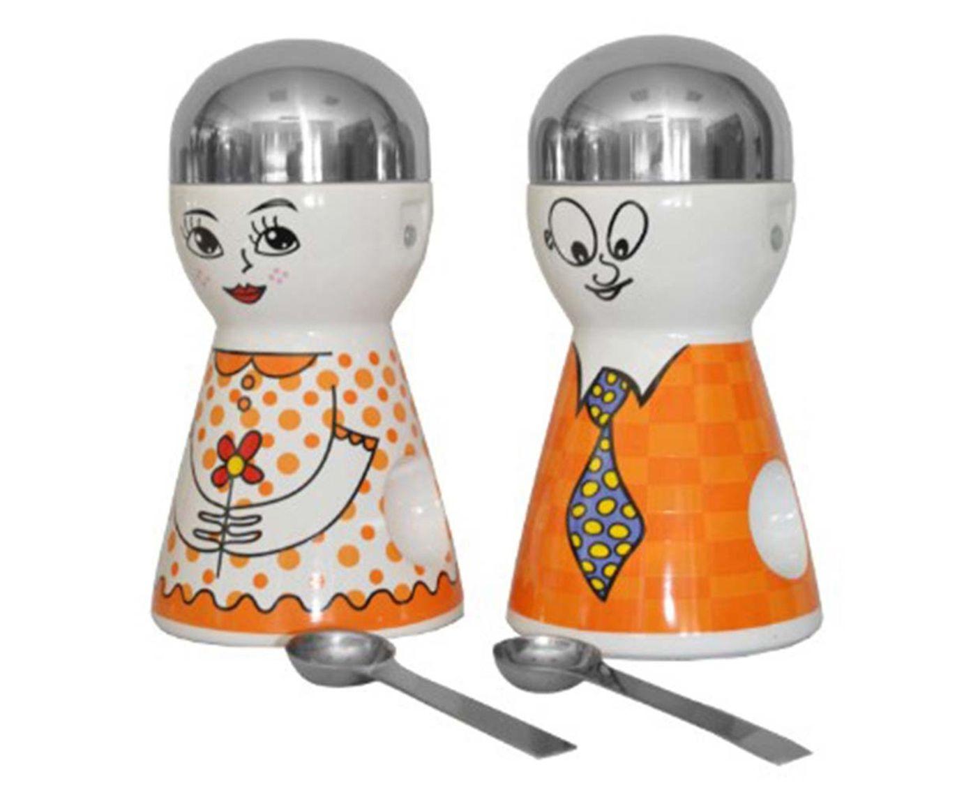 Jogo de Potes com Colheres Doll Laranja - 20cm | Westwing.com.br