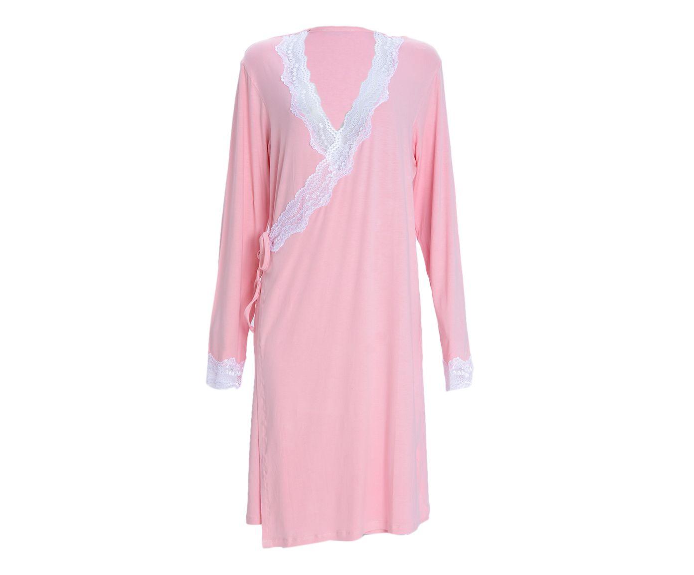 Robe Curto Transpassado Loi Rosa, Tamanho: GG   Westwing.com.br