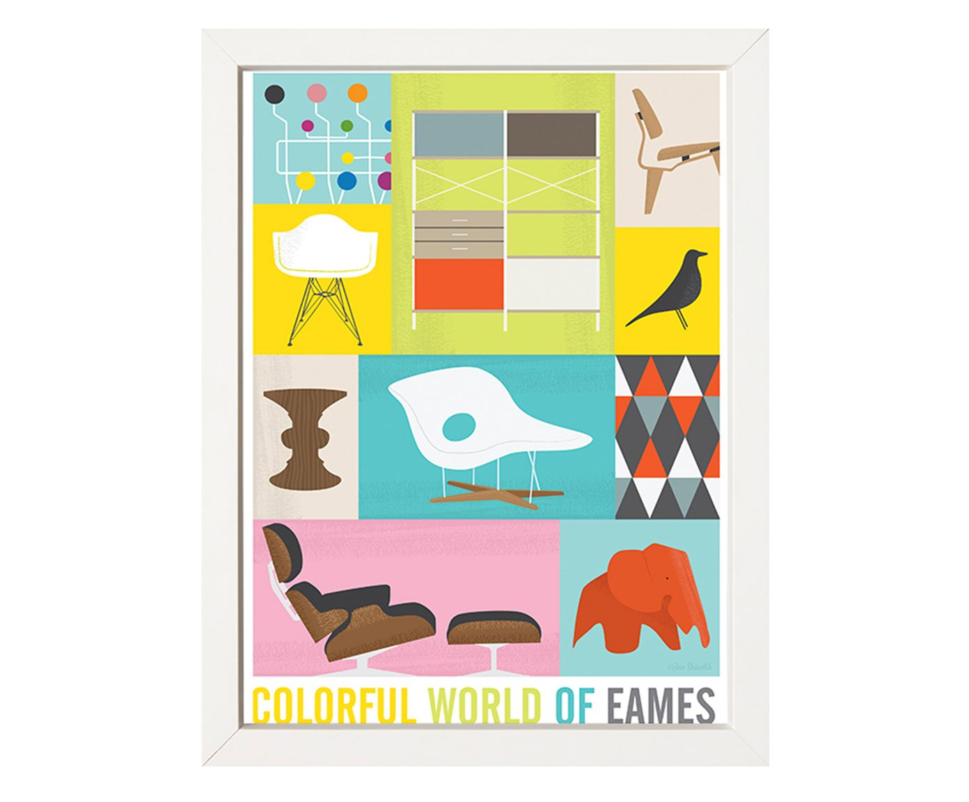 Quadro Colorful World Of Eames - 34x44cm | Westwing.com.br