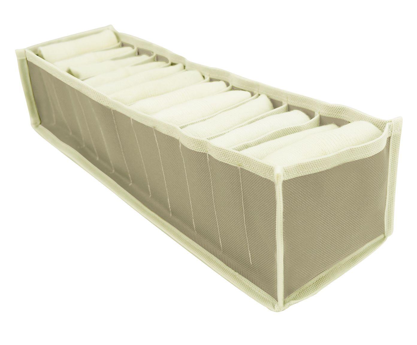 Organizador para Meias Oliv Bege - 12X10X40cm | Westwing.com.br