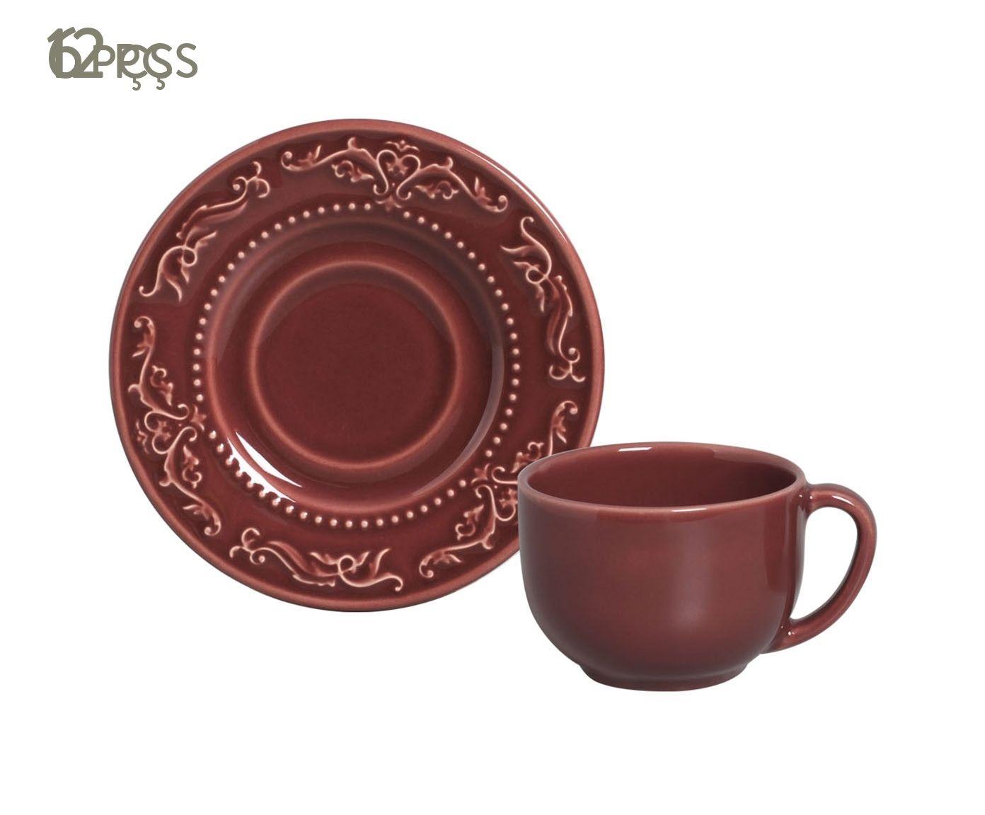 Jogo de Xícaras para Chá com Pires Acanthus Cassis - 161ml | Westwing.com.br