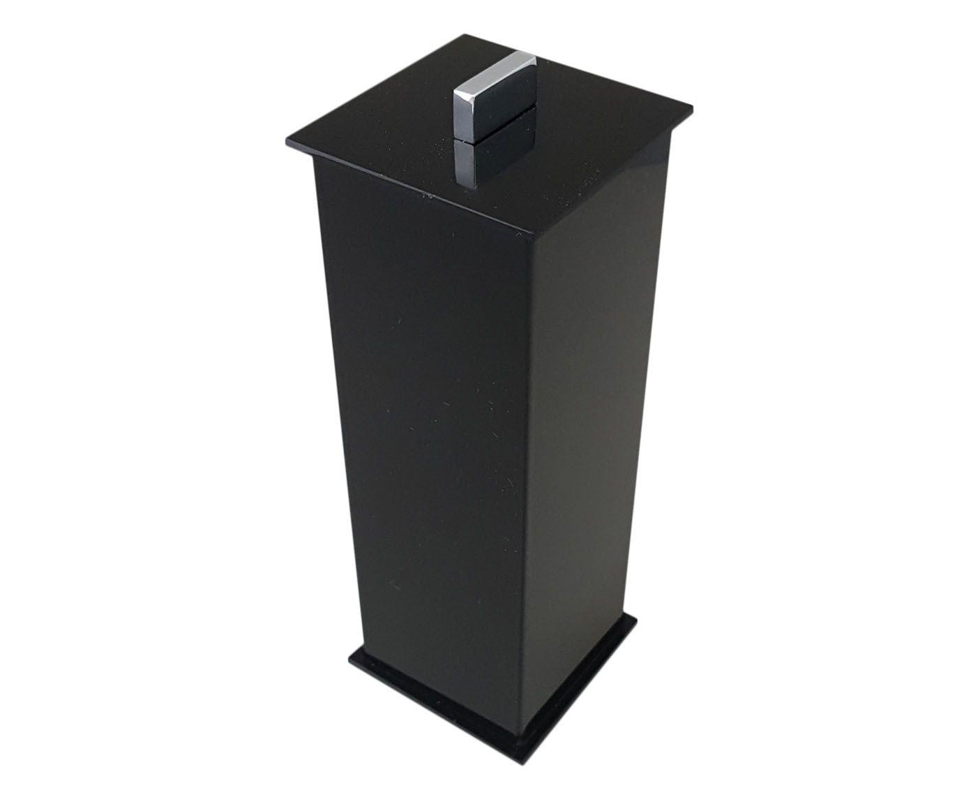 Porta-Escova Elegance Decor Preto - 7X20X7cm | Westwing.com.br