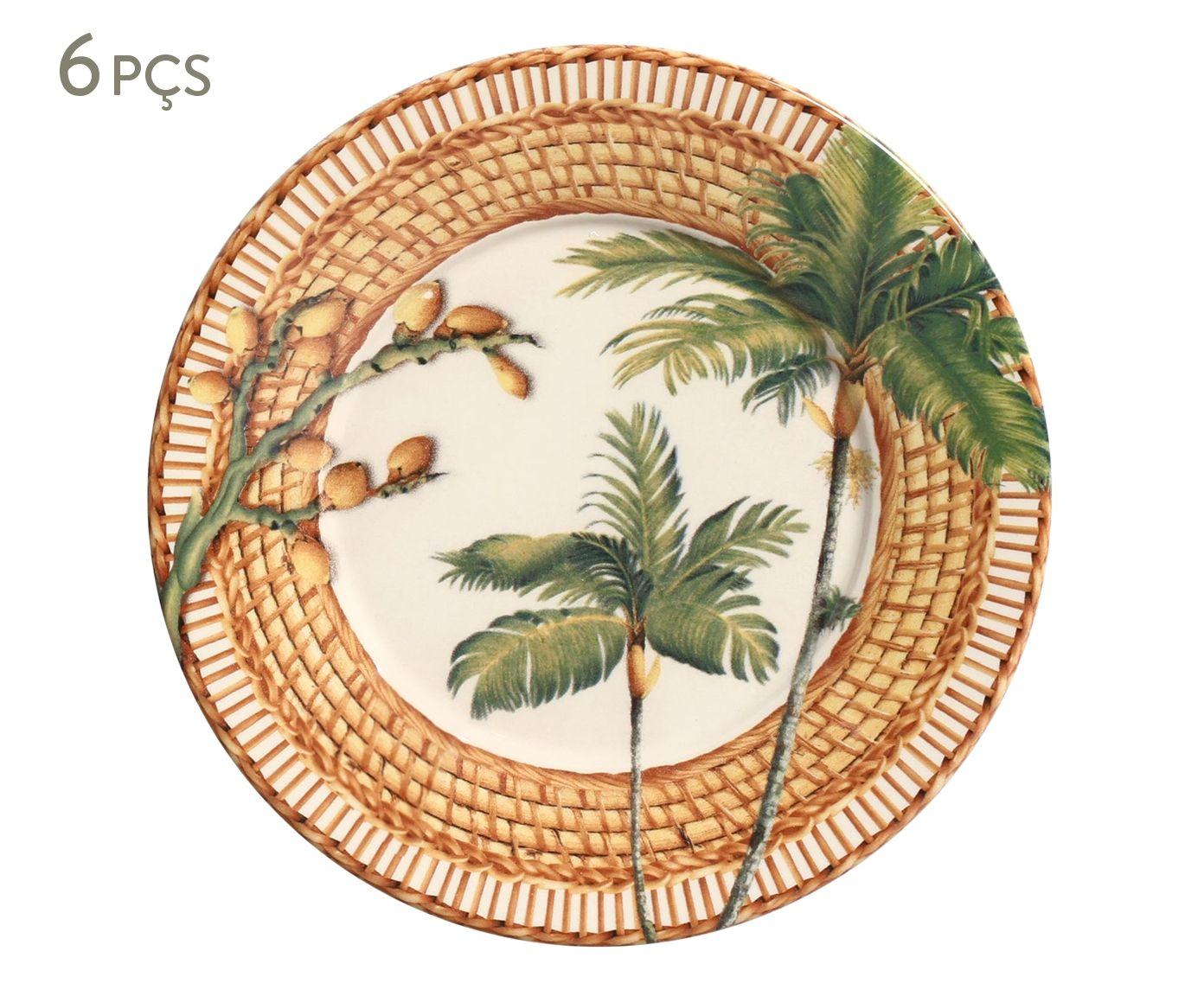 Jogo de Pratos para Sobremesa Mônaco Vime - 20,5cm | Westwing.com.br