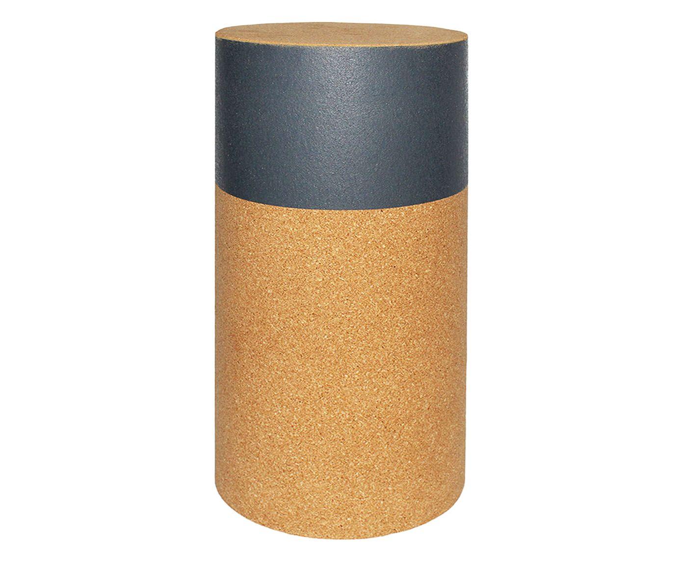 Banqueta Rolha Cinza Escuro - 60X29cm   Westwing.com.br