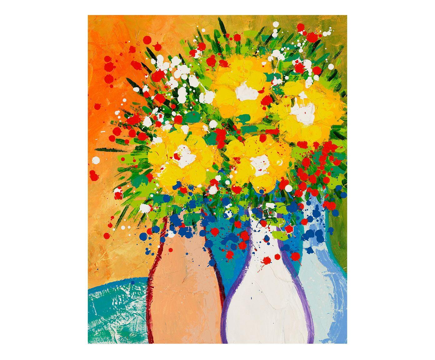 Gravura Rafael Murió Vases Colors - 30X40cm | Westwing.com.br