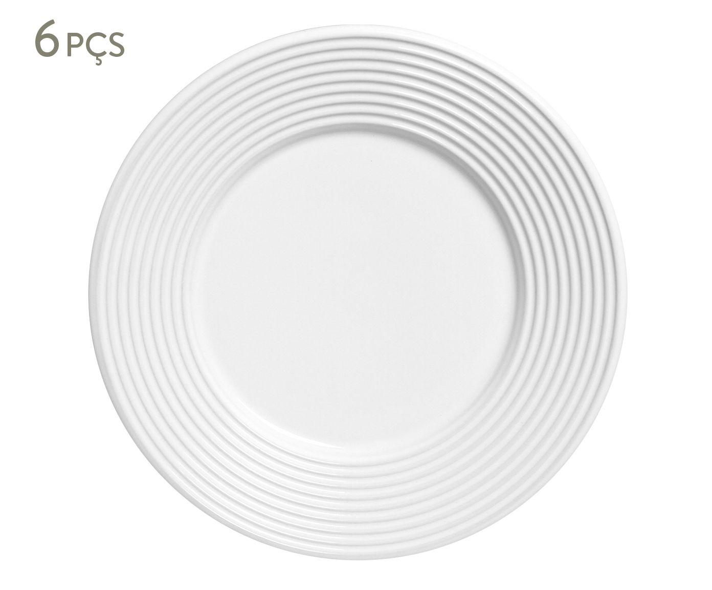 Jogo de Pratos para Sobremesa Argos Branco - 20,5cm | Westwing.com.br