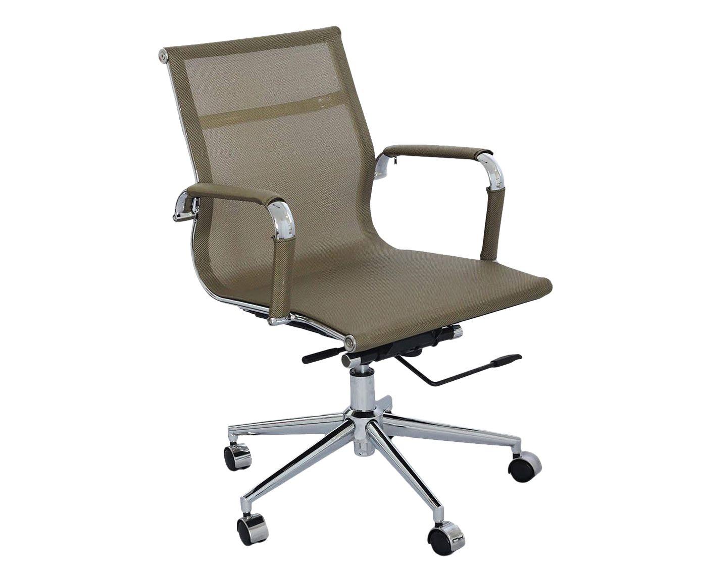 Cadeira com Rodízios Baixa Office Screen Tela Acobreada - 47,5X88,5X61cm | Westwing.com.br