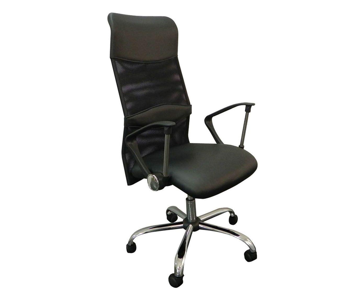 Cadeira em Couro Sintético com Rodízios Alta Smart - 49X85cm   Westwing.com.br