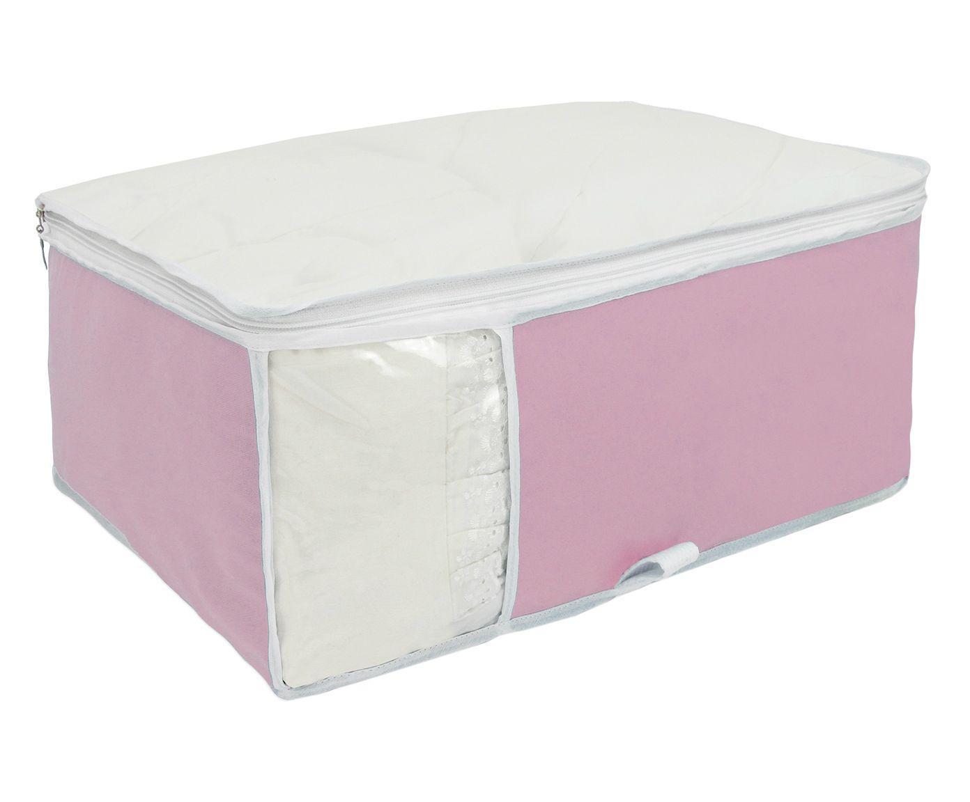 Organizador para Roupa de Cama Window Rosa - 40X20X48cm | Westwing.com.br