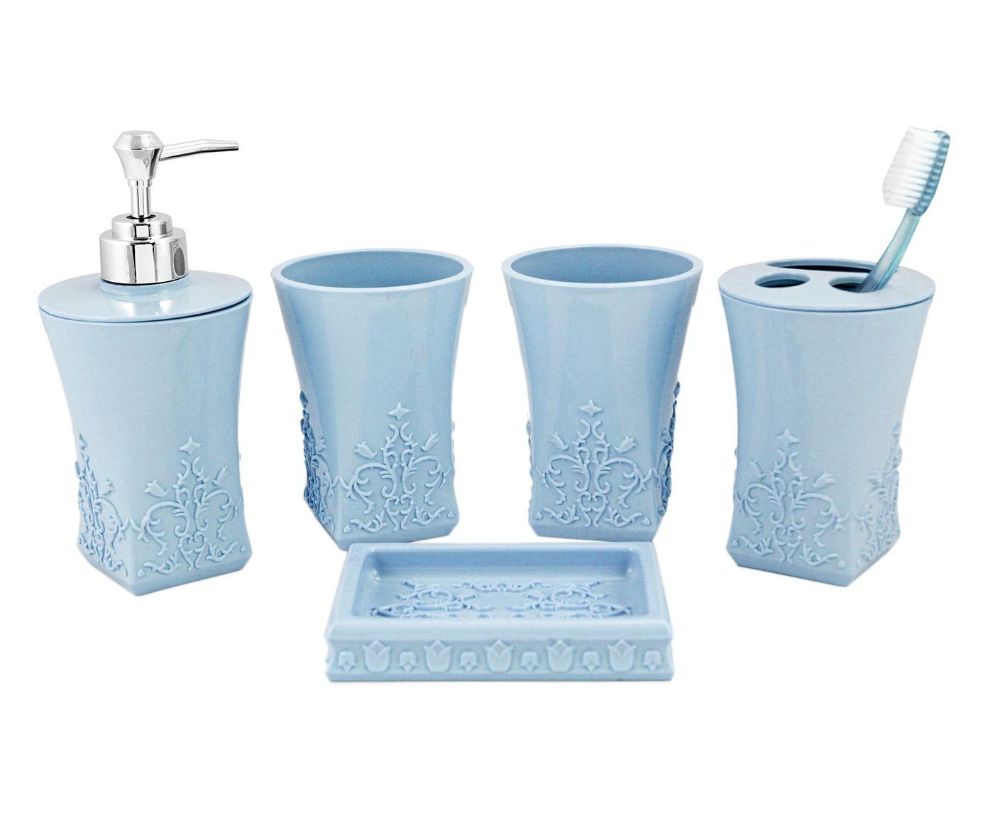 Jogo para Bancada Lifestyle Arabesc - Azul   Westwing.com.br