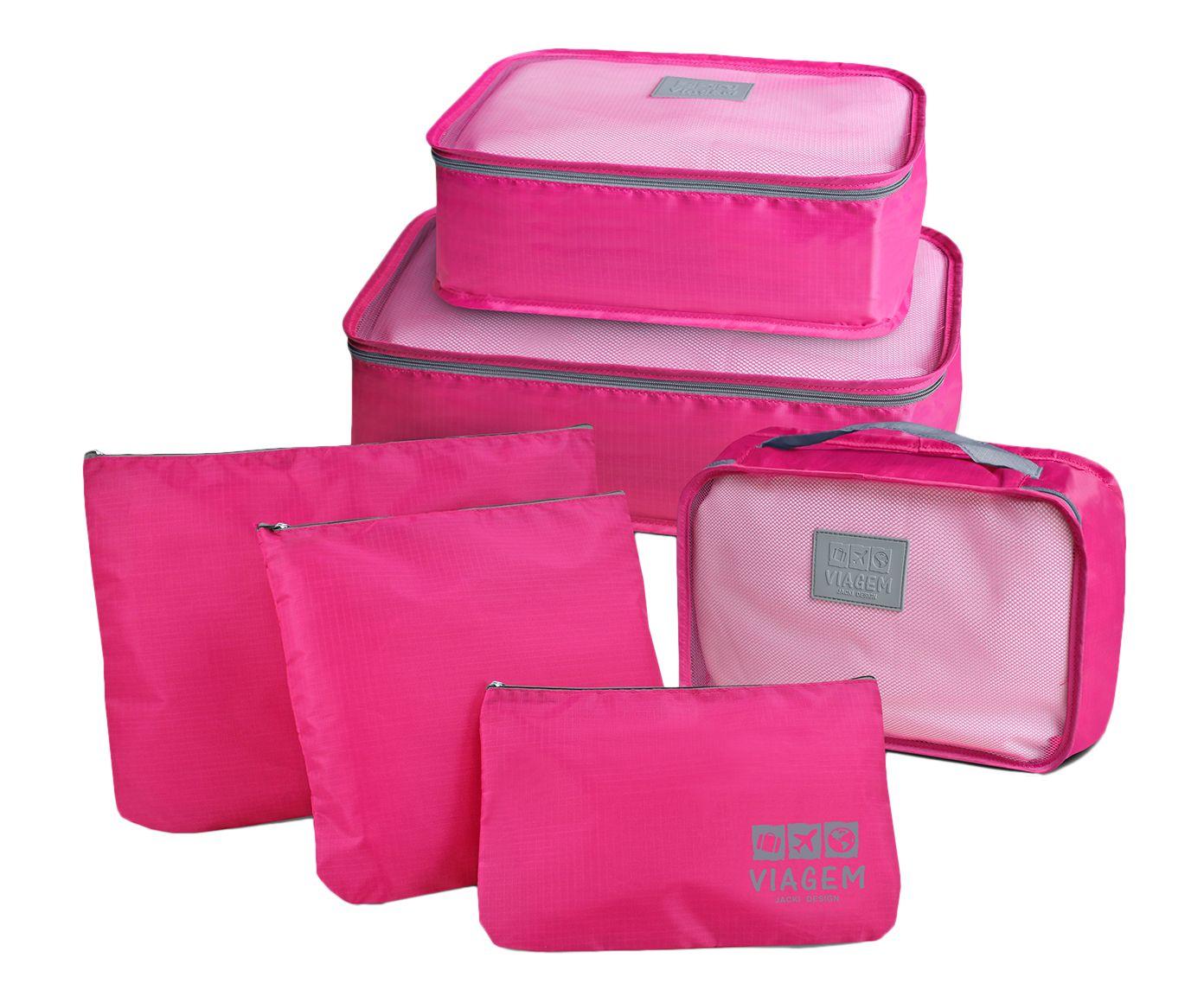 Jogo de Organizadores de Mala Elba - Pink | Westwing.com.br