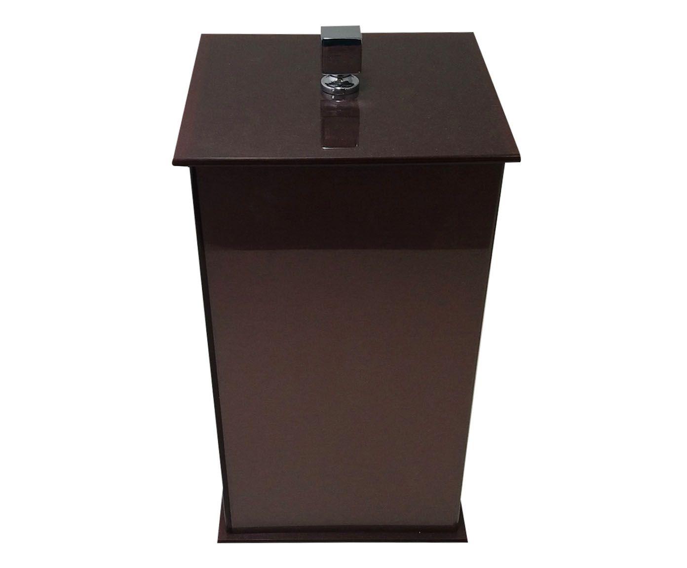 Lixeira Decor Slim Chocolate - 14,8X28X14,8cm | Westwing.com.br