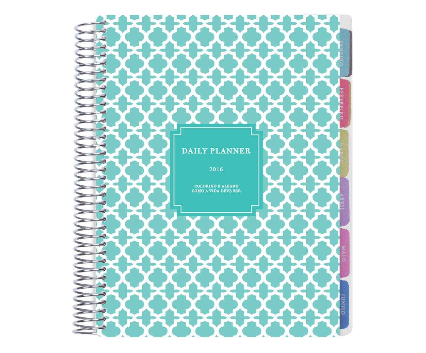 Daily Planner Marrocan Tiffany - 21x23,5cm | Westwing.com.br