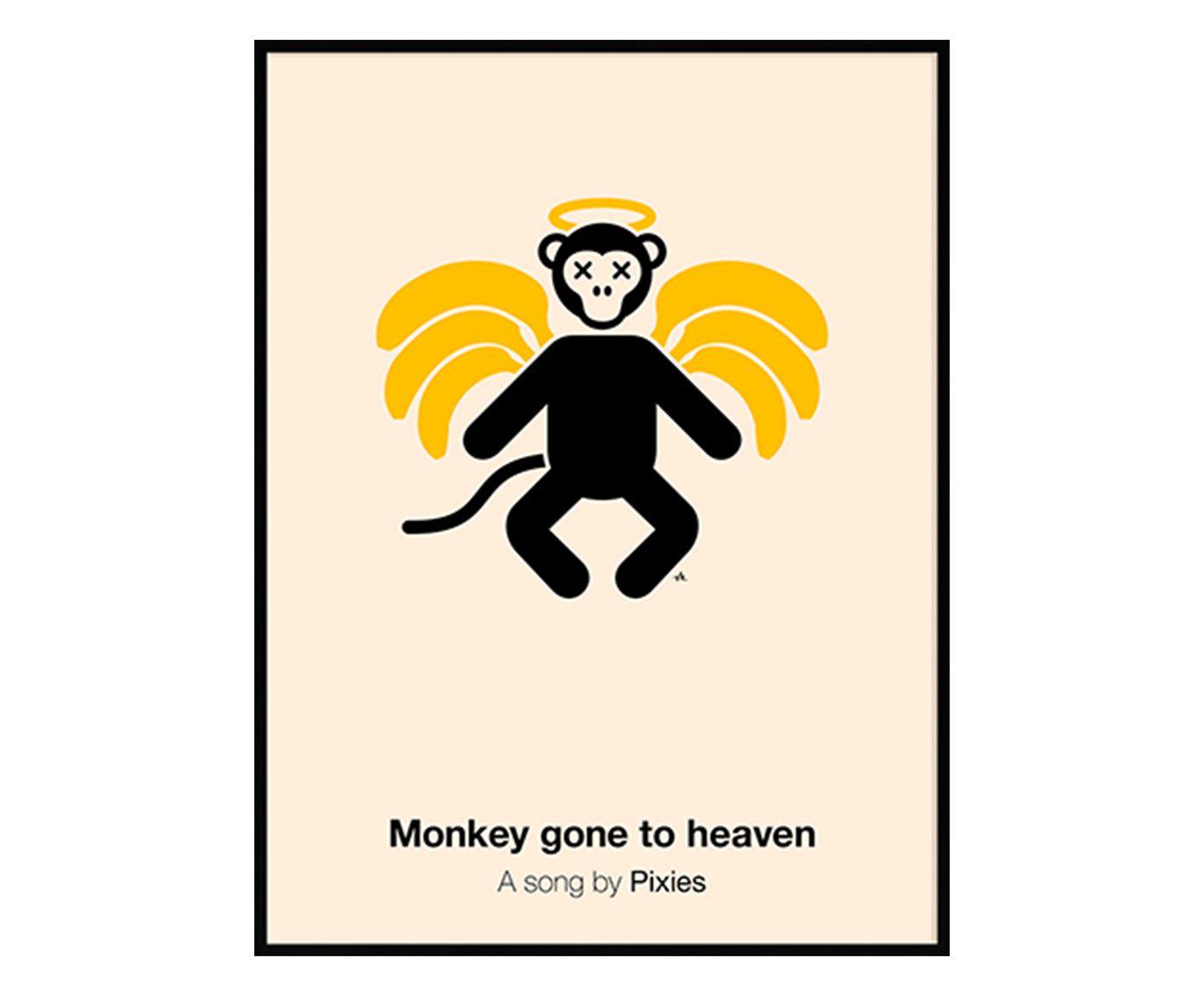 Quadro Monkey Gone To Heaven - 31X41cm | Westwing.com.br