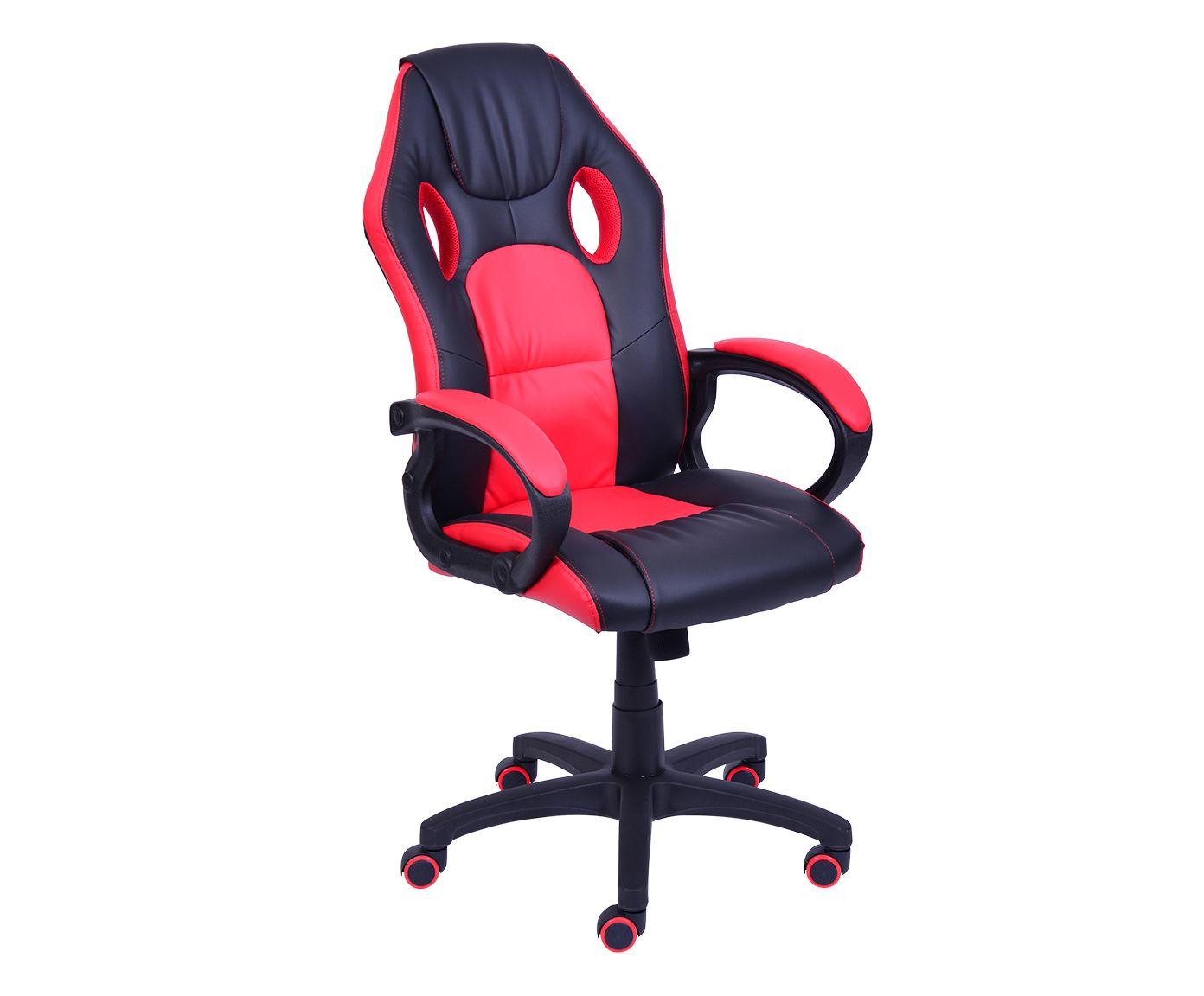 Cadeira Gamer com Rodízios Play Vermelha - 60X117cm | Westwing.com.br