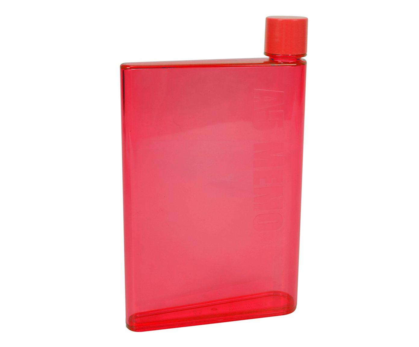 Garrafa de Bolso em Inox Oikos Vermelha - 420ml | Westwing.com.br