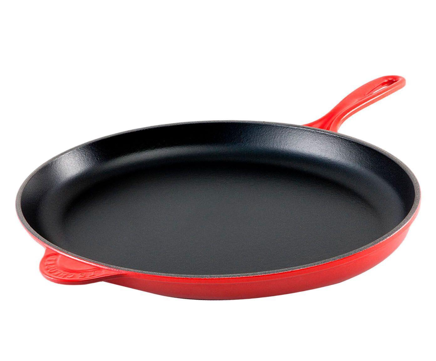 Frigideira Ferro Fundido Esmaltado Vermelha - 40cm | Westwing.com.br