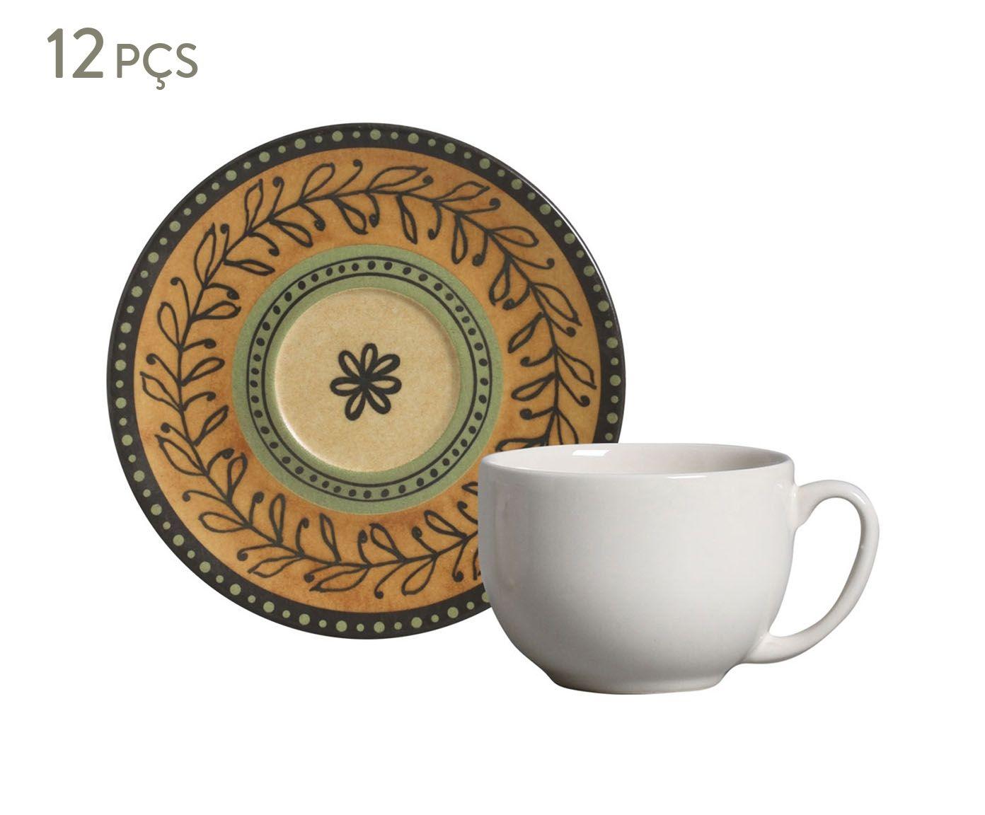 Jogo de Xícaras para Chá com Pires Coup Oliva - 260ml   Westwing.com.br