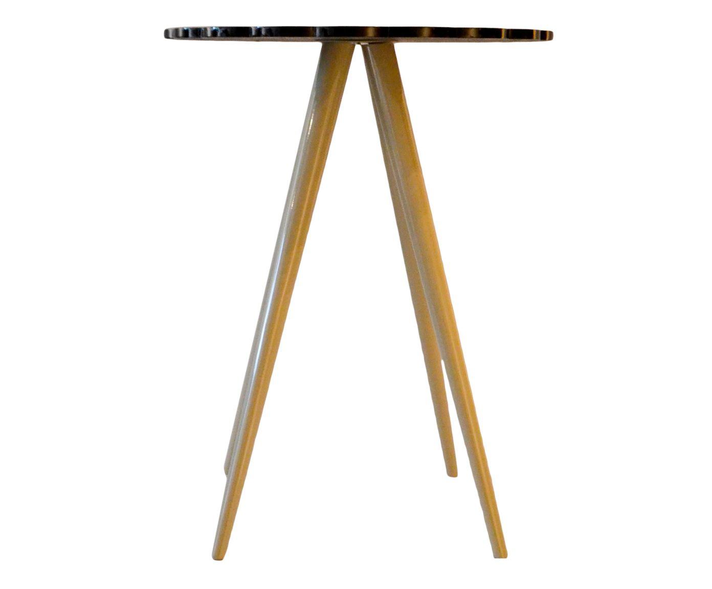Mesa Lateral Cupcake Preta - 63,7x50cm   Westwing.com.br