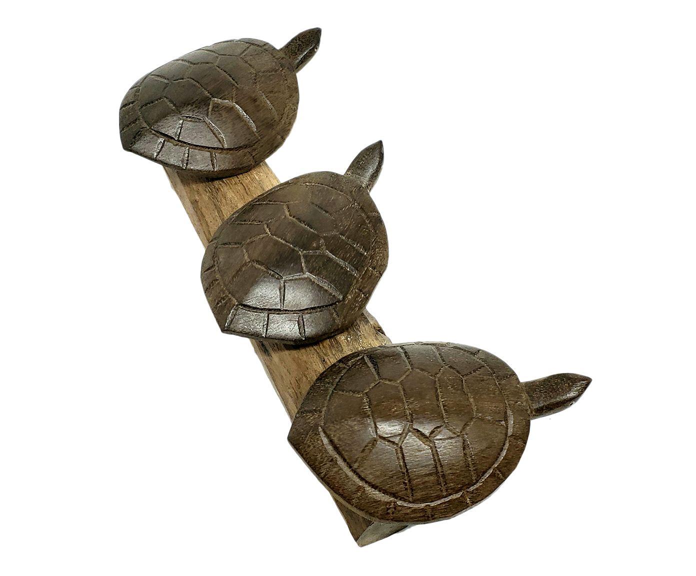 Esculturas Tartarugas No Tronco - 16X7cm | Westwing.com.br