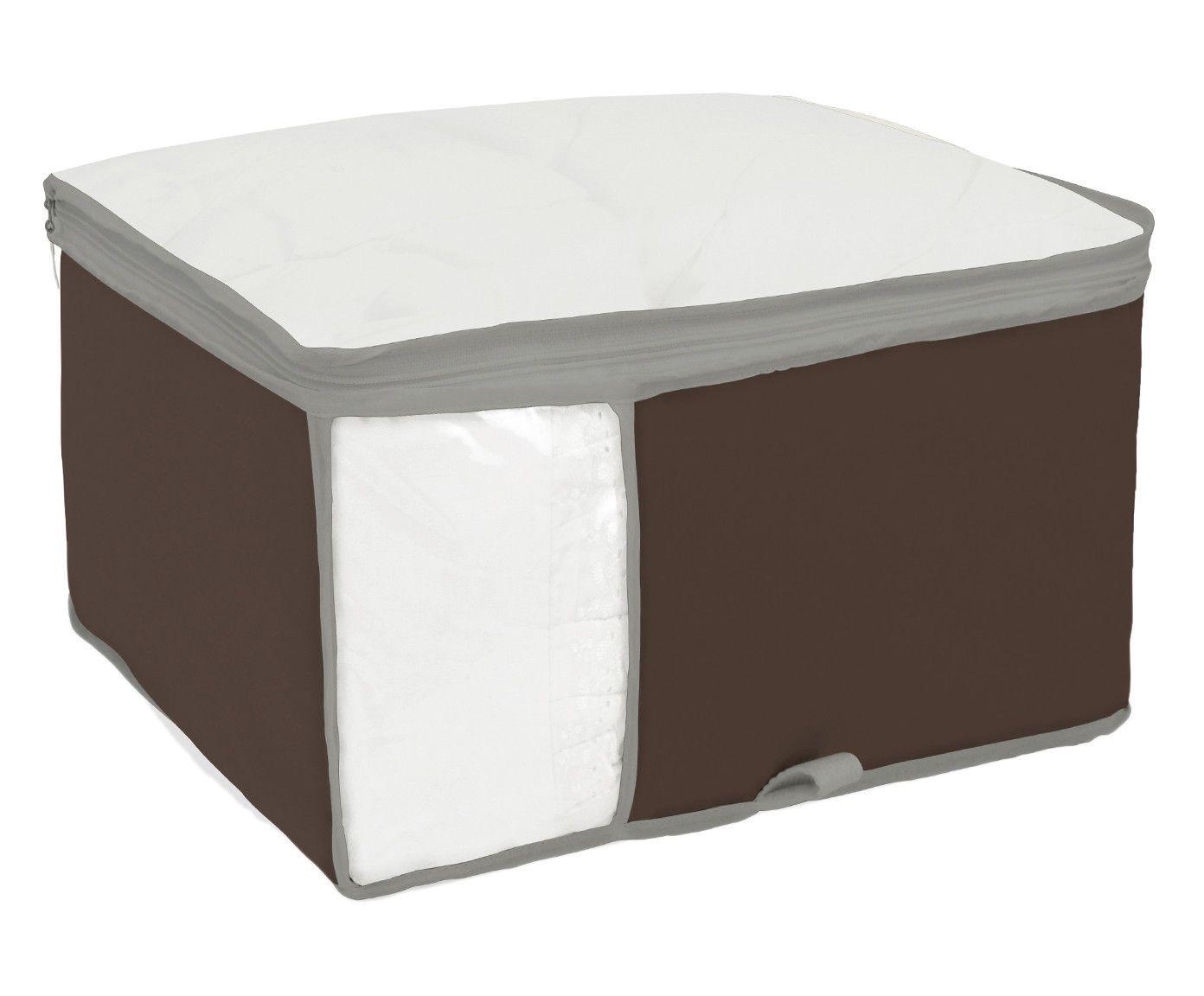 Organizador para Roupa de Cama Window Marrom - 60X25X45cm | Westwing.com.br