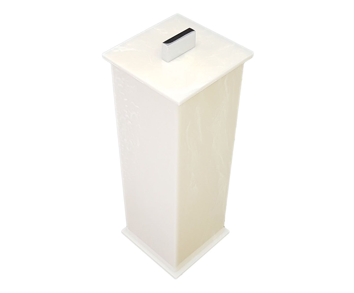Porta-Escova Elegance Decor Travertino - 7X20X7cm | Westwing.com.br